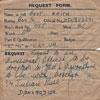 Keith Best's application to serve with his brother on HMS Devonshire in 1952. Image from Julian Best