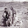 Moe Symons, Electrical Artificers Algy Longworth and Alan Clements at Mellieha Bay, Malta, 1950. Photo from Alan Clements