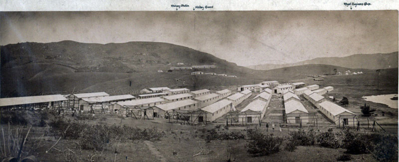 The Boer prisoner of war camp at Diyatalawa looking south in 1900. Photo by A. W. Andree. UK National Archive: Colonial Office Photographic Collection - CO 1069-588-1