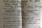 Jeken's driving license dated July 1, 1944. Photo kindly supplied by Jamie Elwin