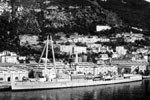 HMS Gambia, Gibraltar, 1952. Photo from Steve McAllister