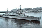 HMS Gambia entering Grand Harbour, Malta in April 1955. Photo kindly sGambia-Grand-Harbour-Malta-Apr55ubmitted by Carol Shirley