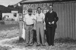 George Bennett, Brian and Bob at The Mount (Mount Maunganui, Tauranga?) New Zealand, December 1945. Photo kindly supplied by Peter Bennett.