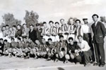 HMS Gambia's soccer team in Iran, 1955. Photo kindly submitted by Janet Kirkham, niece of sick berth attendant Ken Griffin
