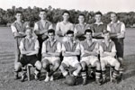 HMS Gambia's soccer team in Trincomalee, Ceylon, 1955. Photo kindly submitted by Janet Kirkham, niece of sick berth attendant Ken Griffin