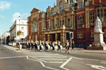 The Association marching down The Parade, Leamington Spa in 1991. This photo was kindly submitted by Ian Frost of Leamington Spa RNA