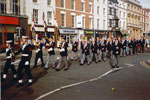 HMS Gambia Association on parade, Leamington Spa in 1992. This photo was kindly submitted by Ian Frost of Leamington Spa RNA