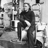 Harry on HMNZS Gambia, May 1946. Photo kindly supplied by Peter Bennett.