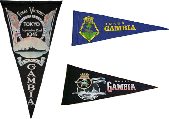 HMNZS Gambia Pennants
