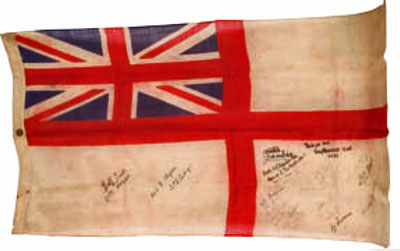 HMS Gambia ensign, 1945