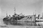 HMS Adamant, a submarine depot ship, in Durban Harbour, May 3, 1942. Photo: Lt. F. G. Roper. Imperial War Museums A 10827
