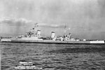 HMS Birmingham, a Southampton class cruiser at Norfolk Navy Yard, November 16, 1944. Imperial War Museums A 30322