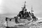 HMS Birmingham, a Southampton class cruiser during WWII. Imperial War Museums FL 2080