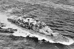 HMS Fiji on August 28, 1940. Imperial War Museums FL13125. HMS Fiji was sunk on May 22, 1941 during the Battle of Crete.