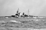 HMS Frobisher at sea. March, 1942. Photo: Lt. L. C. Priest. Imperial War Museum A 8062