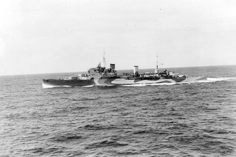 HMS Gambia in August 1942