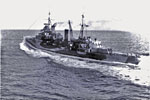 HMS Gambia while with the British Pacific Fleet 1944/45. Imperial War Museums ABS515