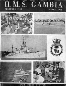 HMS Gambia Commissioning Book 1955-1956