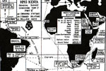 Map of HMS Kenya's 1955/57 commission. Kindly submitted by Royal Marines Musician Dave Simmonds
