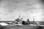 HMS Mauritius at high speed, September 1942. Photo: Lt. D. C. Oulds. Imperial War Museums A 11656