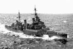 HMS Sheffield during WWII. Imperial War Museums Fl1938