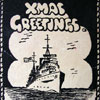 The cover of the 1944 Christmas card sent to Mrs Hopkins in Western Australia. Photo kindly supplied by Terry Criag.