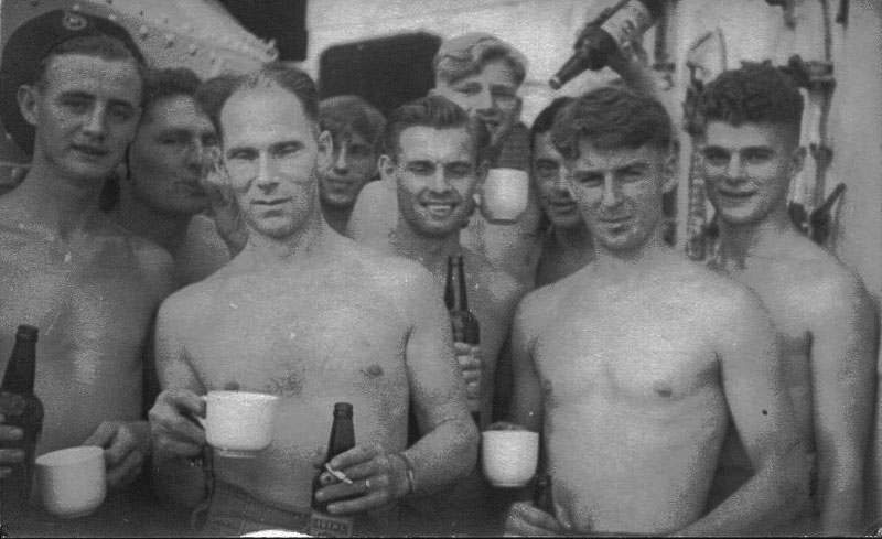 Jack Maben and fellow Royal Marines