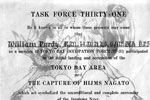 Bill's Task Force 31 certificate. This was the Task Force that started the occupation of Tokyo at the end of WWII. Photo kindly provided by Bill's son, Garry
