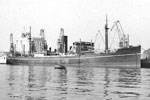 SS Soudan. The ship did hit a mine on May 15, 1942. The ship sank but there were no casualties