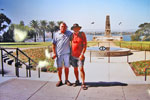 Geordie Todd (Allen?) and Terry Craig at Perth War Memorial, 2004. Both were Electrical Mechanicians on the 1957/58 commission. Photo kindly supplied by Terry Craig.