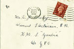 Envelope addressed to David Jenkin Wadey