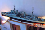 Rosyth dockyard apprentices 1953 model of HMS Gambia. Picture by Sheila Best.