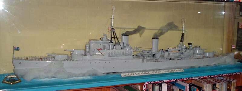 HMS Gambia modelat the BookMark Book Store