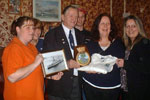 HMS Gambia Association presentation to William Casbolt. Bill was chairman of the Association