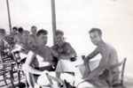 Artificers ashore at Famagusta, Cyprus, June 1950. E. A Clements, O.A. Sturges, E.A. Longworth, R.E.A. Symons. Photo from Alan Clements