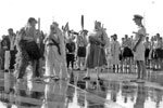 Crossing the Line ceremony on HMS Warrior, 1954. Photo from dad's photo albums