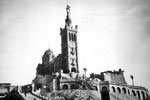 Notre-Dame de la Garde, Marseille, France in 1950. Photo from my dad's albums.