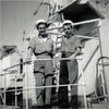 A photo from William Flage's time on HMS Gambia in 1953. Photo from Bill's son, John.