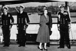The Queen on Royal Yacht Surprise. Image from Ray Holden